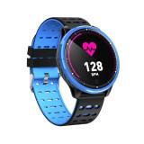 Cumpara ieftin Ceas Smart TarTek M71 Blue Edition, monitorizare activitate cardiaca, tensiune arteriala, fitness