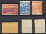Romania Ardealul de Nord 1945 Posta Salajului emisiunea a II-a serie de 3 MNH, Istorie, Nestampilat