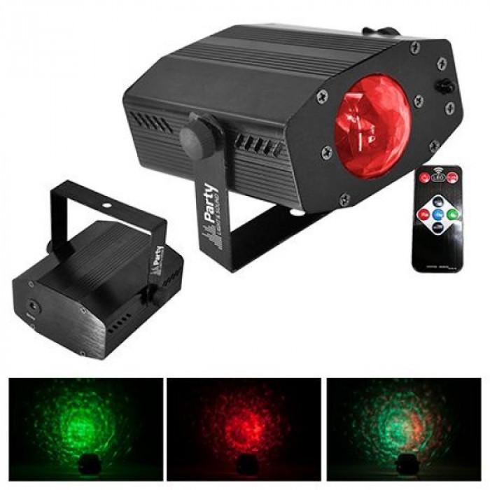 Proiector LED 3 in 1 Waterwave, 3 W, efect stroboscop