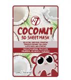 Cumpara ieftin Masca cu Cocos, Colagen si Vitamina E, W7 Coconut 3D Sheet Mask, 18 g