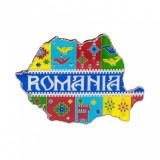 Magnet de frigider, harta Romaniei, MB054