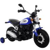 Motocicleta electrica pentru copii BT307 60W CU ROTI Gonflabile Albastru
