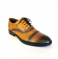 Pantofi barbati Francesco Ricotti  TD200,piele naturala,culoare maro deschis foto