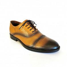 Pantofi barbati Francesco Ricotti  TD200,piele naturala,culoare maro deschis
