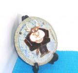 Placheta zodiacala ceramica studio - Taur (21.04 - 21.05) - semnata Si/ Rubyvale