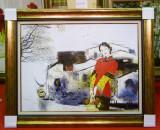 Tablou pictat manual pe panza in ulei, A-040, Natura, Realism