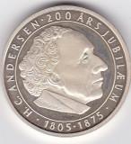 DANEMARCA H.C. ANDERSEN medalie argint aniversara Svinedrengen Porcarul 2005