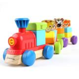 Jucarie de lemn Hape Discovery Train Baby Einstein