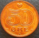 Moneda 50 ORE - DANEMARCA, anul 1996  *cod 4640 - UNC