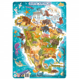 Puzzle cu rama - America de Nord (53 piese) PlayLearn Toys