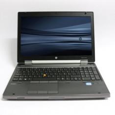 Laptop HP EliteBook 8570w, Intel Core i7 Gen 3 3520M 2.9 GHz, 4 GB DDR3, 500 GB HDD SATA, DVDRW, Placa Video NVIDIA Quadro K1000M, WI-FI, Bluetooth, D