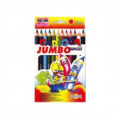 Creioane colorate 12 culori jumbo FT-212