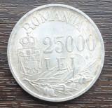 (A407) MONEDA DIN ARGINT ROMANIA - 25.000 LEI 1946, MIHAI I, LUCIU DE BATERE