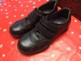 Pantofi DAMA - piele naturala, 37.5, Negru, Cu talpa joasa