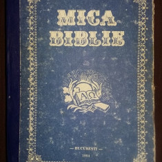 mica biblie,1994,carte cu coperti groase,interior stare Foarte Buna,T.GRATUIT