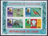 DB1 Fauna Zair Expeditie pe Fluviul Zair Elefant Pasari  MNH