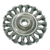 Perie sarma impletita tip circular cu filet 100mm