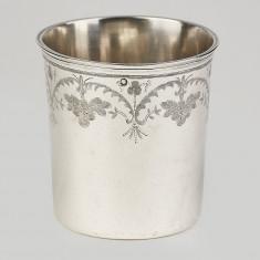 Pahar,pocal din argint masiv 950,Franta an 1793-raritate,piesa de colectie