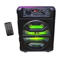 Boxa portabila activa bluetooth Lige Q4, statie integrata, Radio FM, USB, telecomanda