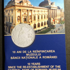 BNR - Brosura  100 de ani de la reinfiintarea Muzeului BNR