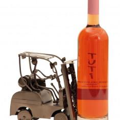 Suport pentru Sticla Vin model Stivuitor Metal Lucios Capacitate 1 Sticla H 17 cm l 25 cm
