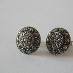 Cercei argint cu marcasite -421