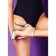 Sandale Adeline Argintii - Platforma