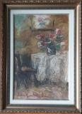Tablou ulei pe carton Rudolf Schweitzer-Cumpana - Natura moarta - autentificat