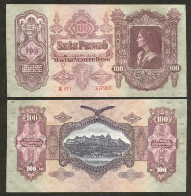 UNGARIA BANCNOTA DE 100 PENGO 1930 PERFECT UNC foto