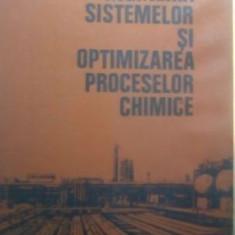 Ingineria sistemelor si optimizarea proceselor chimice