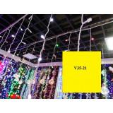 V35-21 INSTALATIE PLOAIE 100 LED 2 M ROSU
