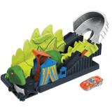 Cumpara ieftin Pista de masini Hot Wheels Mattel Toxic Dino coaster attack cu masinuta