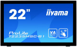 Monitor LED Iiyama ProLite T2235MSC-B1, 21.5 inch, 16:9, 6 ms, multi-touch, negru