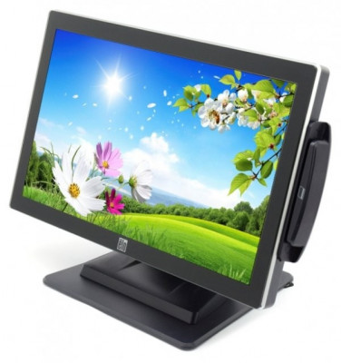 Monitor 19 inch LED Wide, ELO ET1919L-AUWA-1-GY, Black, Touchscreen, Cititor Card, 3 ANI GARANTIE foto