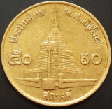 Moneda exotica 50 SATANG - THAILANDA, anul 1995 *cod 1320, Asia