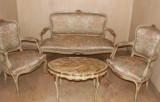 canapea cu fotolii,masa/salon/salonas Ludovic/Louis/baroc venetian,vintage/antic