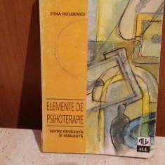 Irina Holdevici - Elemente de psihoterapie