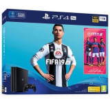 Consola SONY PlayStation 4 PRO (PS4 PRO) 1TB, negru + FIFA 19