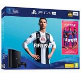 Consola SONY PlayStation 4 PRO (PS4 PRO) 1TB, negru + FIFA 19