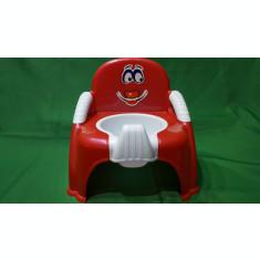 Olita copii si bebelusi tip scaunel, culoare rosie cu alb