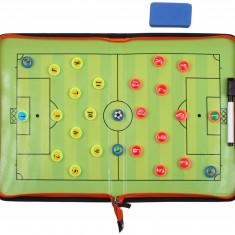 Fotbal 58 plansa magnetica antrenor, cu fermoar, Merco