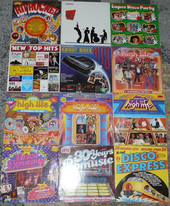 vinyl selectii Abba,Depeche Mode,Wham,Europe,Prince,Falco,A-ha,Rod Stewart,INXS