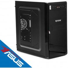 Sistem desktop Start V4 Powered by ASUS Intel Celeron Dual-Core J1800 2.41 GHz Intel HD Graphics 4GB DDR3 120GB SSD + 250GB HDD 450W Black
