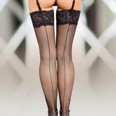 Ciorapi Negri Fini Cu Dantela Model 5537 / 3