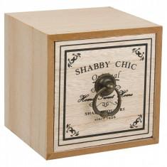 Cutie pentru deppozitare din lemn, model cu un sertar, 11x11x11 cm