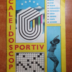 revista caleidoscop sportiv iulie 1981- contine rebus,omor,enigme,teste,stiri