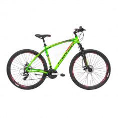 """Bicicleta MTB Umit Camaro 2D, Cadru 18"""" , 21 Viteze , Culoare Verde , Roata 26""""PB Cod:26610180003, Discuri"""