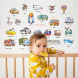 Cumpara ieftin Stickere cu masini si vehicule Transport Set autocolant de perete pentru camera copii