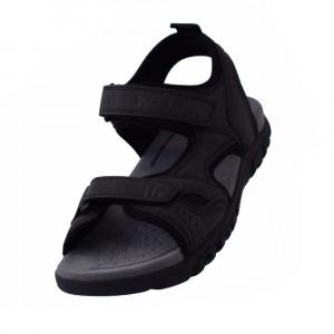Sandale barbati, din piele naturala, marca Geox, U4224A-01-06, gri , marime: 40