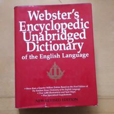 WEBSTER'S ENCYCLOPEDIC UNABRIDGED DICTIONARY / DICTIONAR ENGLEZA